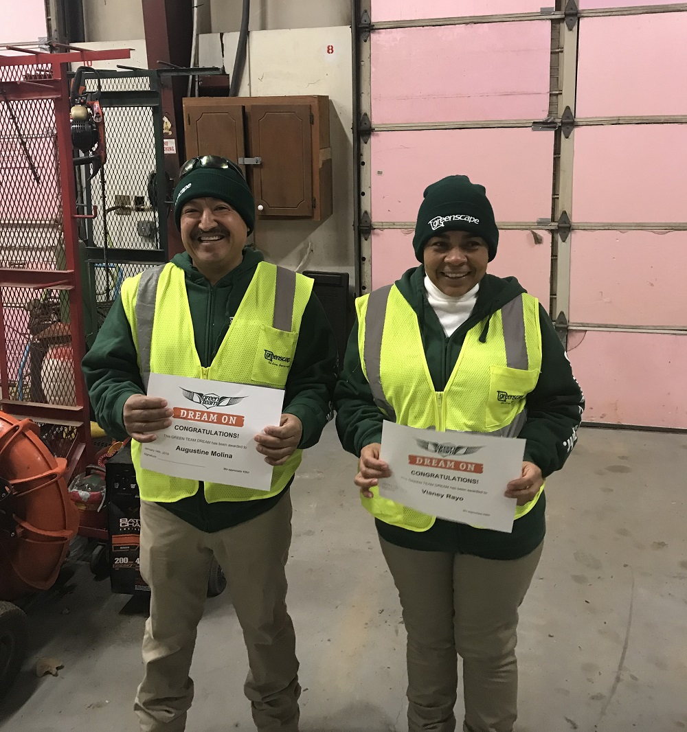 Greenscape employee award program winners