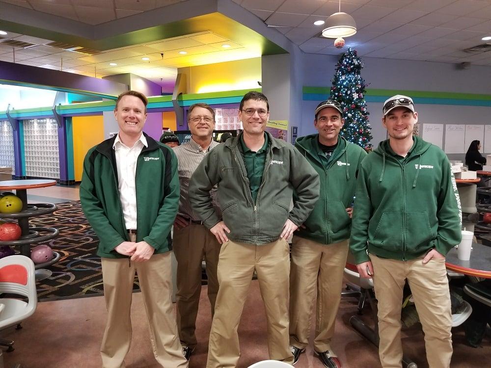 Greenscape team having fun bowling