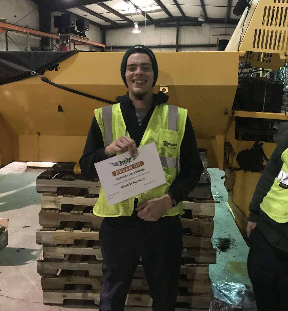 Greenscape employee awarded Dream On