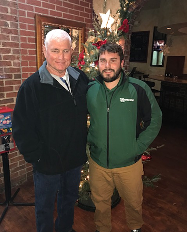 Greenscape project manager, Ryan Truelove, and his father