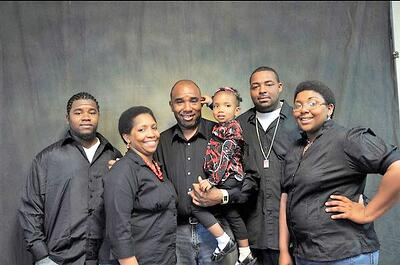 Terry Alston and his family