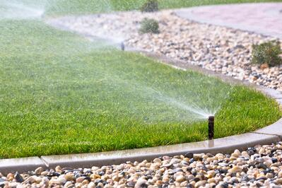 Irrigation on commercial property