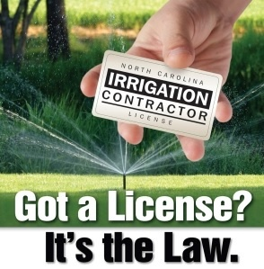 Licensed NC Irrigation Contractor