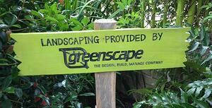 Greenscape Landscaping sign in Raleigh, NC
