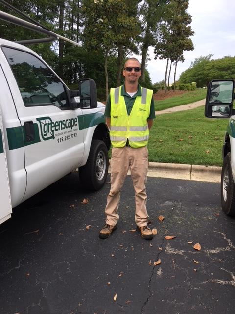 Greenscape Irrigation manager Chris Moore with Greenscape truck
